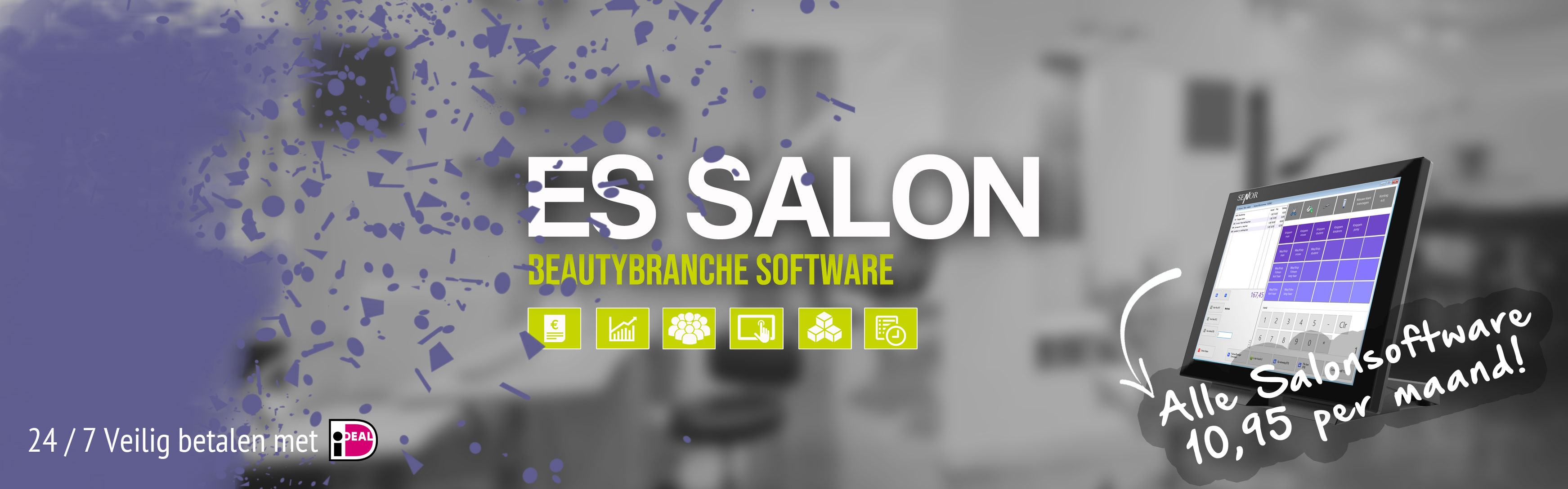 Salon software Essalon, kapper software, schoonheidssalon software, nagelsalon software